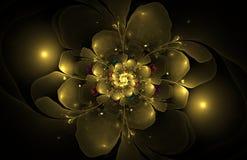 Computererzeugtes Bild der abstrakten Fractalblume Stockbild