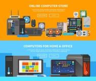 Computerfahnen Flaches Design 2 Lizenzfreie Stockbilder