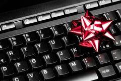 Computerfeiertagsgeschenkidee Stockfoto