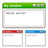 Computerfenster Lizenzfreie Stockfotografie
