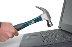 Computerfrustration stockfoto