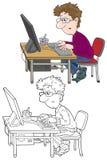 Computergebruiker Royalty-vrije Stock Afbeeldingen