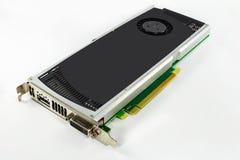 Computergrafikkarte Hardware Getrennt auf weißem Hintergrund Stockfotos
