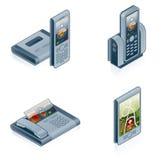 Computerhardware-Ikonen stellen ein - konzipieren Sie Elemente 55f Stockbild