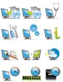 Computerikonen Stockfoto