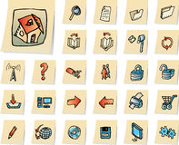 Computering and web icons Royalty Free Stock Photo