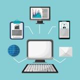 Computerinternet-E-Mail-Kugelprofilstrategie Lizenzfreie Stockfotografie