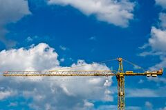 Computerised crane  Royalty Free Stock Photo