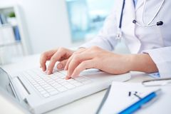 Computerization of healthcare system Stock Images