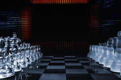 Computerized chess game Royalty Free Stock Image