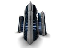 Computerkontrolltürme lizenzfreie stockfotos