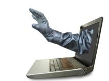 Computerkriminalitätskonzept lizenzfreie stockbilder