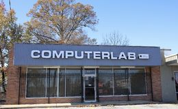 Computerlaboratorium van Memphis, Tennessee Stock Afbeeldingen