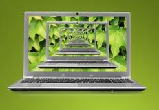 Computerlaptop 3D Lizenzfreie Stockbilder