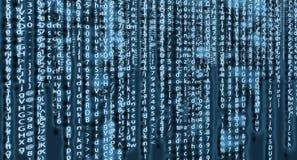 Computermatrixhintergrund-Kunstdesign Stellen auf Schirm Grafische Daten des abstrakten Begriffs, Technologie, Dekodierung, Algor lizenzfreie stockfotografie