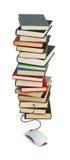Computermaus gehört zu den Büchern Stockbilder
