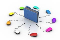 Computermaus mit Dateiordner Lizenzfreies Stockfoto