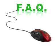 Computermaus und Wort FAQ Lizenzfreie Stockfotografie