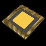 Computermicroprocessor Digitaal geproduceerd beeld geïsoleerde Royalty-vrije Stock Foto's