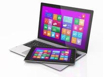 Computermobilität und Tablette PC. Intrface Lizenzfreie Stockfotografie