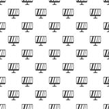 Computermonitormuster, einfache Art Stockbild