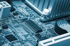 Computermotherboard close-up Royalty-vrije Stock Afbeeldingen