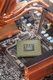 Computermotherboard close-up Stock Afbeeldingen