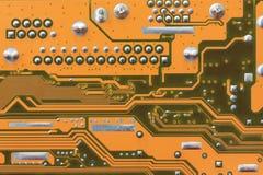 Computermotherboard oppervlakte van technologieachtergrond Royalty-vrije Stock Fotografie