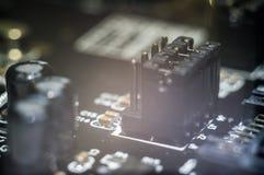 Computermotherboard-PWB Stockfotografie