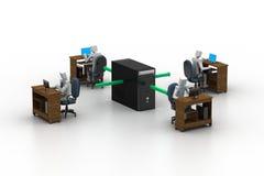 Computernetwerk. Conceptueel beeld Stock Afbeeldingen