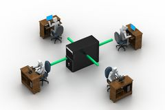 Computernetwerk. Conceptueel beeld Royalty-vrije Stock Fotografie
