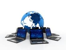 Computernetwerk, het 3d teruggeven Royalty-vrije Stock Fotografie