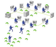 Computernetz Lizenzfreies Stockfoto