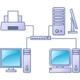 Computernetz Lizenzfreie Stockfotografie