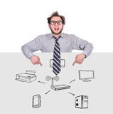 Computernetzwerk Lizenzfreies Stockfoto