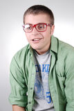 computernik χαμόγελο γυαλιών ηλίθ&io Στοκ φωτογραφίες με δικαίωμα ελεύθερης χρήσης