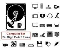24 computerpictogrammen Stock Foto's