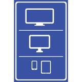 Computerpictogrammen Geplaatst voor om het even welk gebruik groot Vector eps10 royalty-vrije illustratie