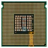 Computerprozessor mit einem Adapter brachte, mehradrige CPU, isola an Lizenzfreie Stockfotografie