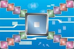 Computerprozessortechnologie stock abbildung