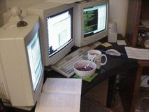 Computers 2 stock image