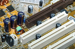Computers. Hardware - Computer - MotherBoard close up stock photo