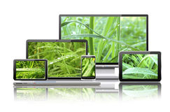 Computers And Nature Concept. Royalty Free Stock Images