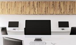 Computers in bureau vector illustratie