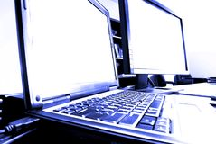 Computers in Business Royalty Free Stock Photography
