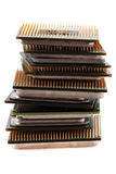 Computers chips isolated Royalty Free Stock Photos