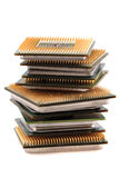 Computers chips isolated Royalty Free Stock Image