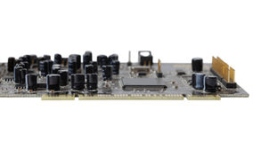 Computers circuit board. Shallow focus. Stock Images