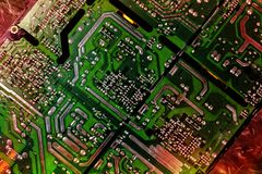 Computers motherboard Royalty Free Stock Image