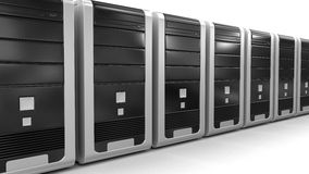 Computers (clipping path included) Royalty Free Stock Images